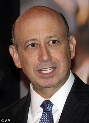 The real Lloyd Blankfein: Comedian Andy Borowitz (right) wrote a satirical letter mocking the one written by Mr Blankfein (left) in response to the resignation letter Mr Smith wrote for The Times