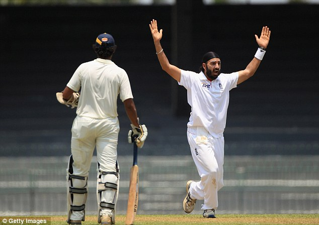 Five star: England spinner Monty Panesar continued his impressive return to the side in Colombo
