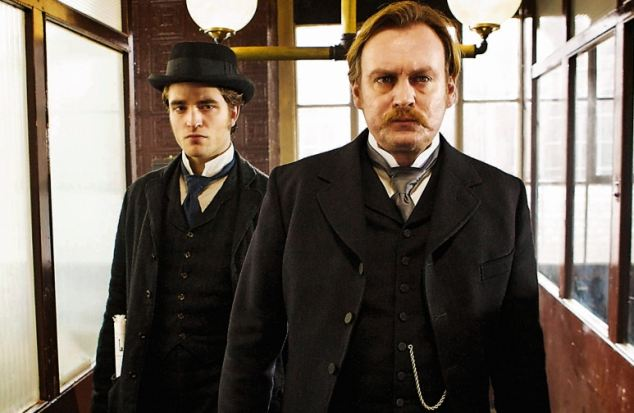 Philip with Robert Pattinson in Bel Ami, which is set in 19th-century Paris