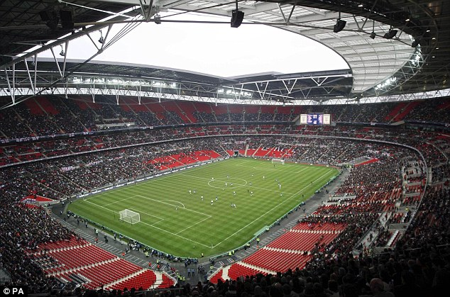 Golden chance: Wembley will host the men and women's gold medal matches at the Olympics