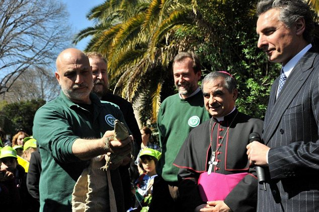 Gift: Benedictus, as the crocodile was christened, was presented to Pope Benedict - who decided it would be an ideal gift for Cuba ahead of his three-day trip