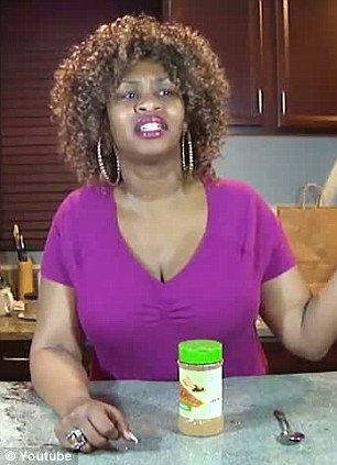 A woman prepares for her Cinnamon Challenge, which she filmed and posted on YouTube