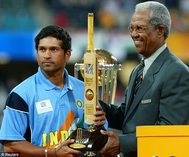 Man of the tournament: Sachin Tendulkar at the 2003 World Cup