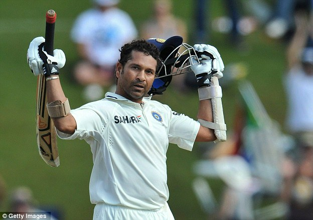 Record breaker: Sachin Tendulkar against South Africa