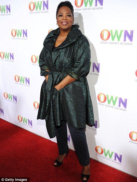 The axe: Oprah Winfrey's OWN network has aired The Rosie Show for less than six months, before announcing its departure
