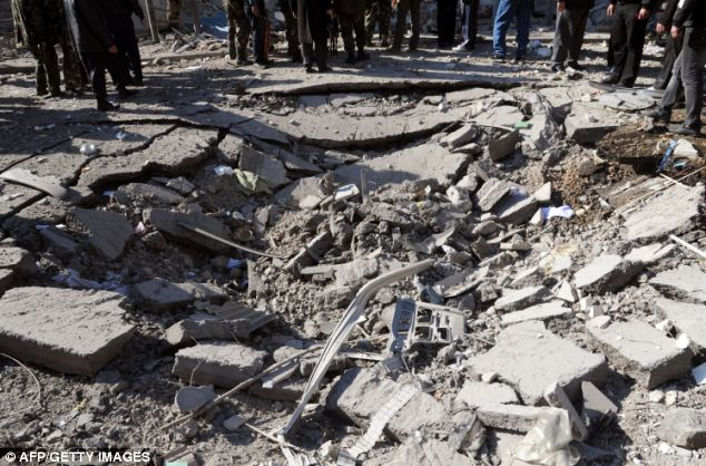 Bomb damage: The opposition accuses the state of masterminding the blasts to tarnish the uprising