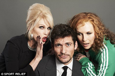 Fashion victim: David Gandy will no doubt be a target for the comedy duo