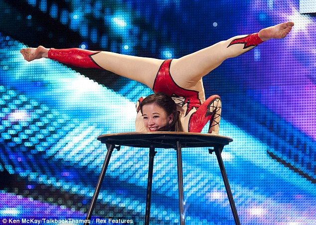 Pixie Le Knot lived up to her name with her contortionist act as the crowd watched on in amazement...