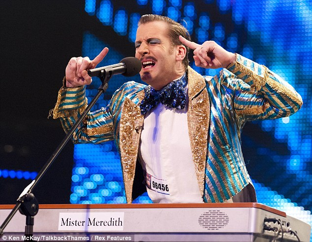 Mister Meredith: The London entertainer was among the first to perform in front of the new look judging panel