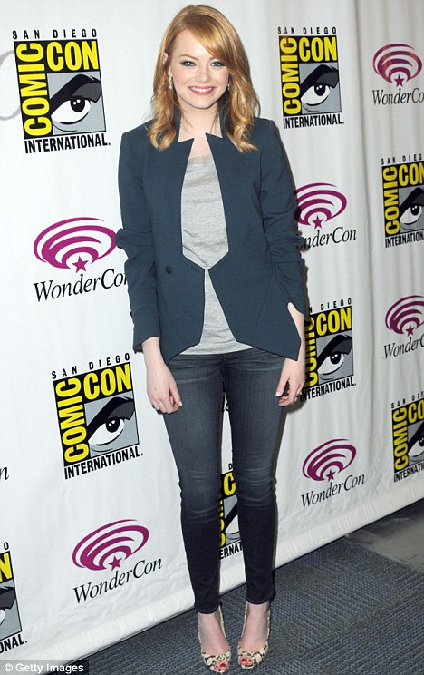 Light wonder: The 23-year-old actress attended WonderCon in Anaheim yesterday