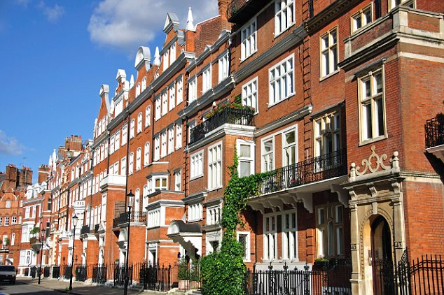 Salubrious: Lennox Gardens, in Chelsea, where homes easily sell for over £2 million
