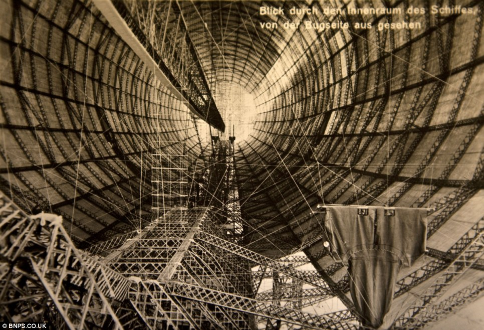 A Zeppelin under construction. The collection is so big it is having to be sold over four sales at Wallis and Wallis auction rooms in Lewes, East Sussex