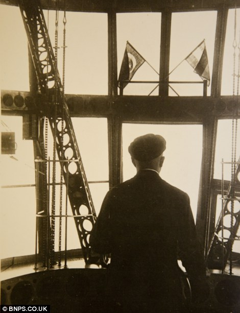 A captain's eye-view on the deck of one of the massive airships