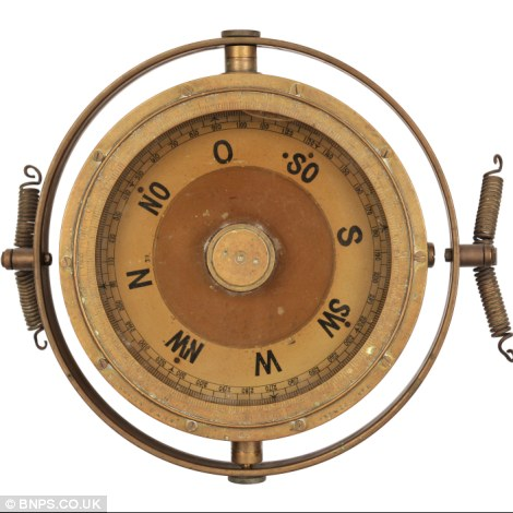 A compass from an airship - just part of David Kirch's collection which could fetch £1million
