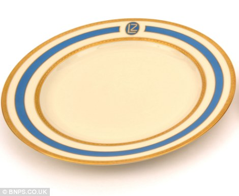 A dinner plate from a Zeppelin