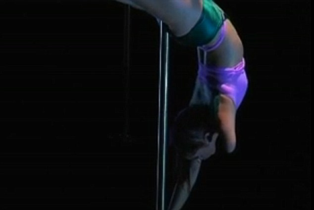 Dizzying heights: In 2009 she won a pole dancing competition against able-bodied dancers, which spurred her to quit her job in IT, and become a personal trainer