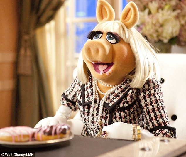Miss Piggy  in the  Walt Disney film The Muppets