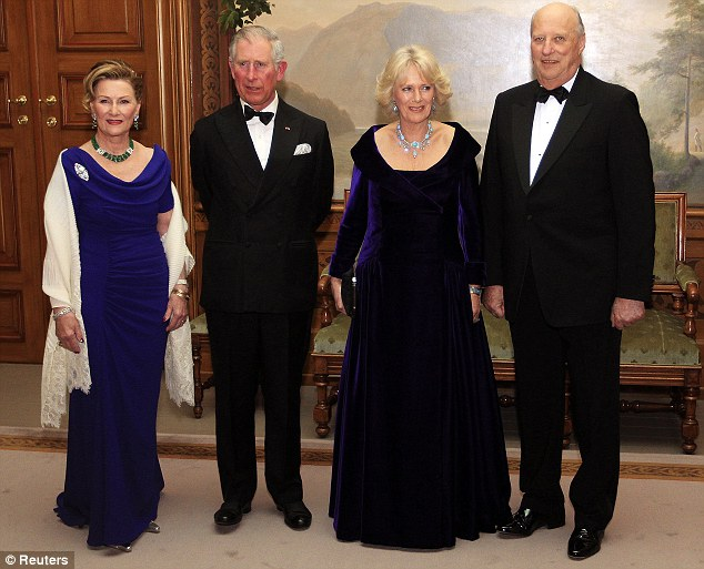 The Royals attended a gala dinner at the Royal Palace in Oslo last night