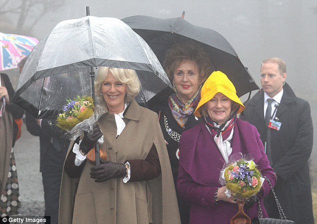 The Duchess of Cornwall and Queen Sonja of Norway visit an outdoor nursery school in Bergen, Norway as part of an eight-day Scandinavian tour that coincides with the Queen's Diamond Jubilee