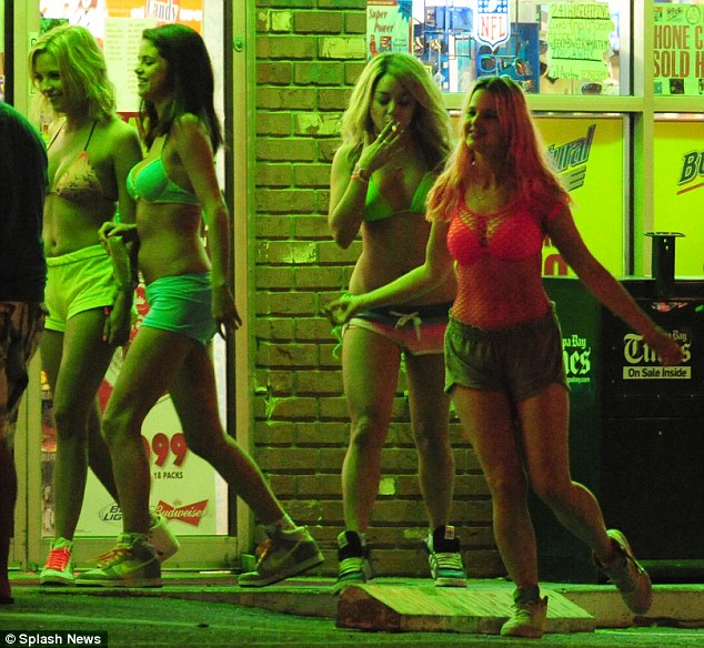 Flashing the flesh: There has also been plenty of flesh on display with the girls mostly in their swimsuits and skimpy outfits