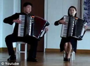 Internet sensation: The accordion band have become an unlikely hit
