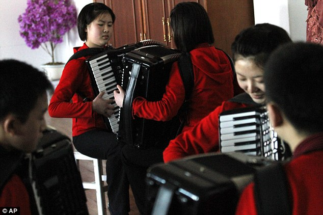Masters of the accordion: The group pair of to try the tricky melodies