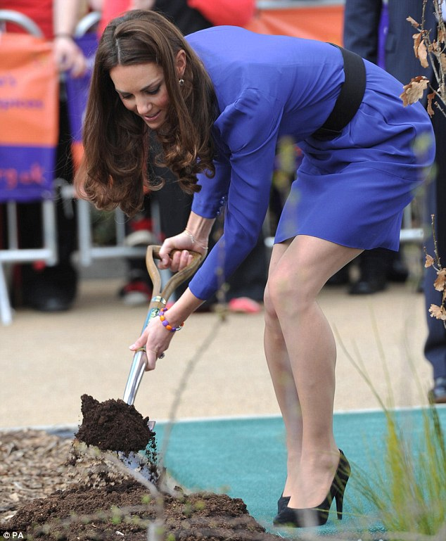 As the Duchess of Cambridge planted a commemorative tree in the grounds of the Treehouse Hospice in Ipswich onlookers were surprised to see the funky bracelet