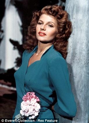 Seduced: Rita Hayworth was one of Langella's conquests