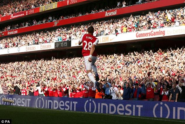 One to remember: Gibbs celebrates his goal