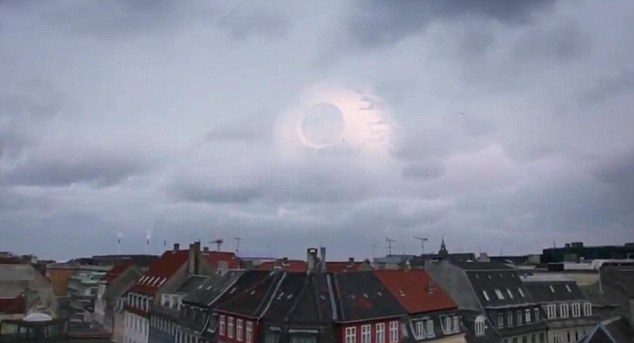 Here it is again: The Death Star appears to be moving over the Danish city scoping out the inhabitants. Is it about to launch a surprise attack?