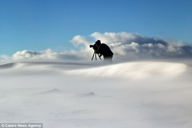 The brave photographer had to endure winds of up to 100kmph during his landscape shooting in the Italian Alps