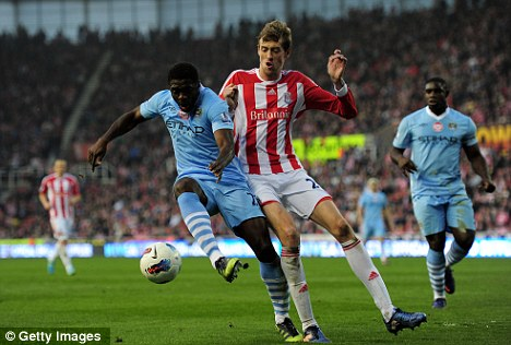 Hopeful: The Stoke striker is hoping for an England recall