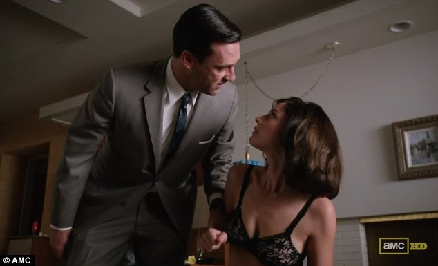 Things have changed: Sexual tensions run high in the first episode of the fifth season of Mad Men
