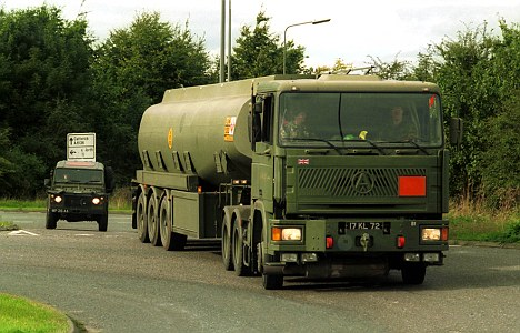 Soldiers at the ready: Talk of industrial action has raised memories of the fuel blockades of 2000, when Army tankers, pictured, were called in to action