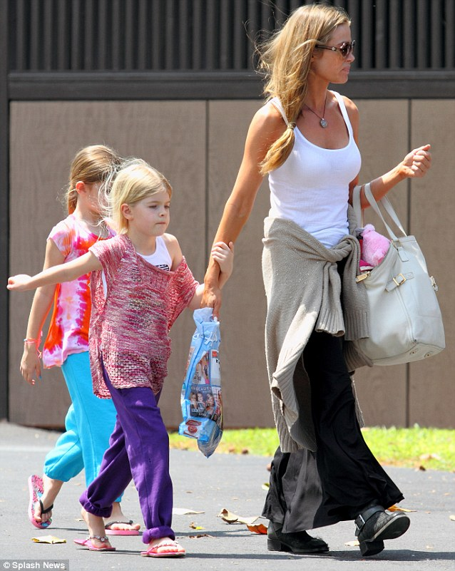 Arrival: Denise was seen earlier in the day, shortly after arriving on the island, strolling around with her two elder girls Sam and Lola