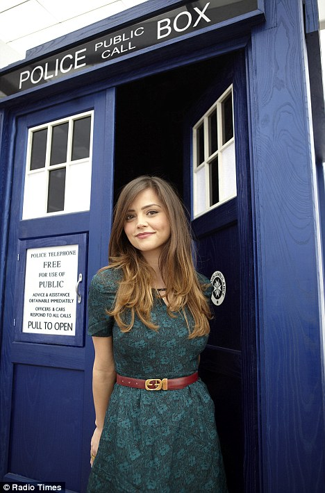 The new girl: Jenna-Louise Coleman has been revealed as Doctor Who's new companion but she said the whole casting process was shrouded in mystery
