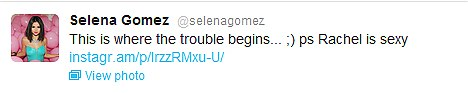 What will Justin say?: Selena, a former Disney star, posted this photo on her Twitter feed