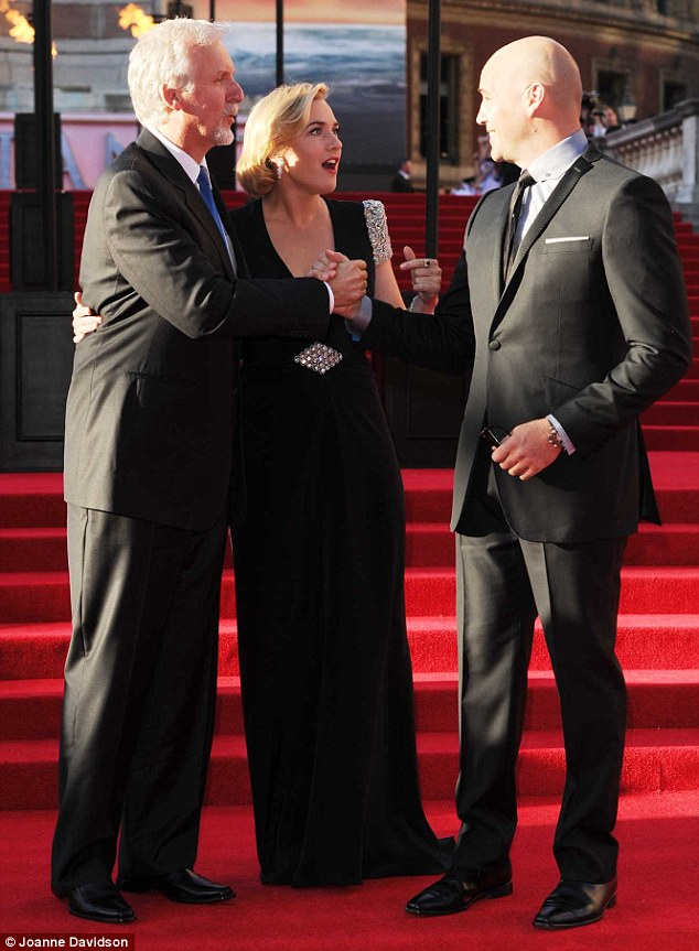 Long time no see! Billy caught up with director James Cameron and Kate Winslet, who played his fiancée in the blockbuster, two months ago at the Titanic 3D premiere in London