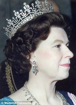 Waxworks Statues & Sculptures of Her Majesty Queen Elizabeth II at Madame Tussaud's in London, 1985