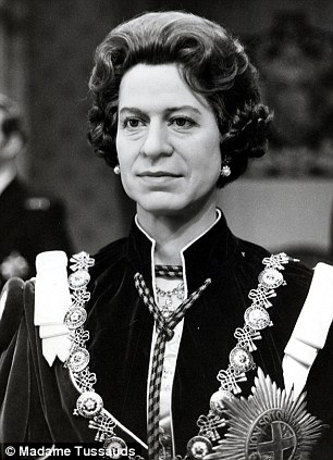 Waxwork of the Queen at Madame Tussaud's 1977