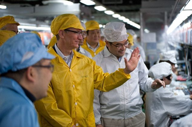 First visit: Tim Cook at a brand new Foxconn factory in Hebei