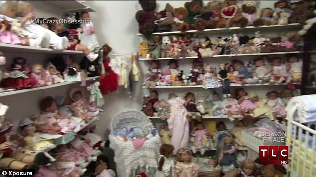 Lynn Katsaris, from Los Angeles, meanwhile, has hoarded over 1,800 dolls which she treats as her own babies