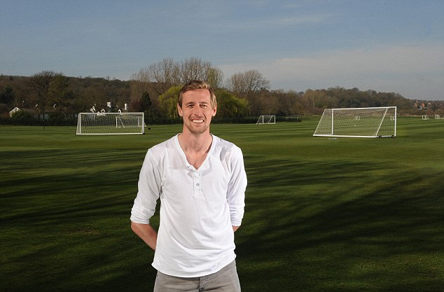 Charismatic: Peter Crouch is witty, friendly and determined to go to Euro 2012