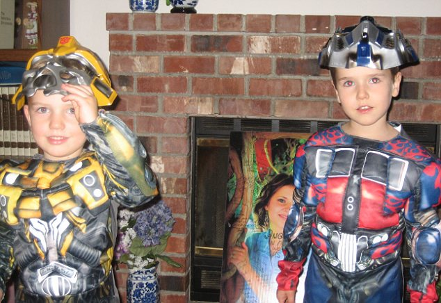 Killed: The couple's sons Braden and Charlie died when their father blew up a house in Washington