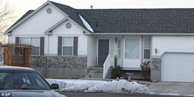 Home: The house in West Valley City, Utah where the Powells lived and where Susan's blood was found