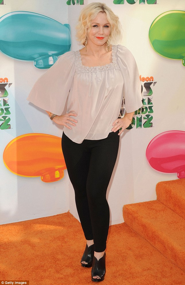 Putting on a brave face: Beverly Hills 90210 star Jennie Garth put on a brave face as she goes through her divorce with Peter Facinelli