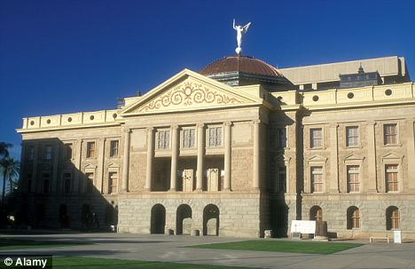Passed: The Arizona state legislature approved the bill on March 29 and it would prevent anyone from writing anything deemed 'offensive' on the internet