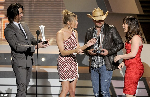 For me?: Single of the year to went to Jason Aldean and Kelly Clarkson