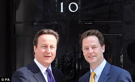 High hopes: Both coalition parties were vocal in their opposition to Labour's assault in civil liberties