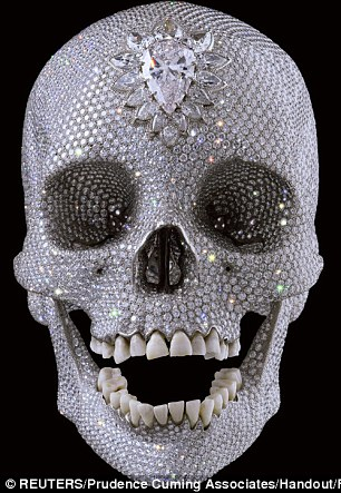 Hirst's diamond-encrusted platinum skull sold for £50million in 2007